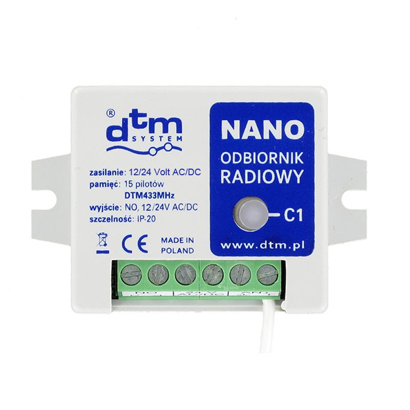 DTM Funkempfänger Nano 12-24 Volt 433 MHz