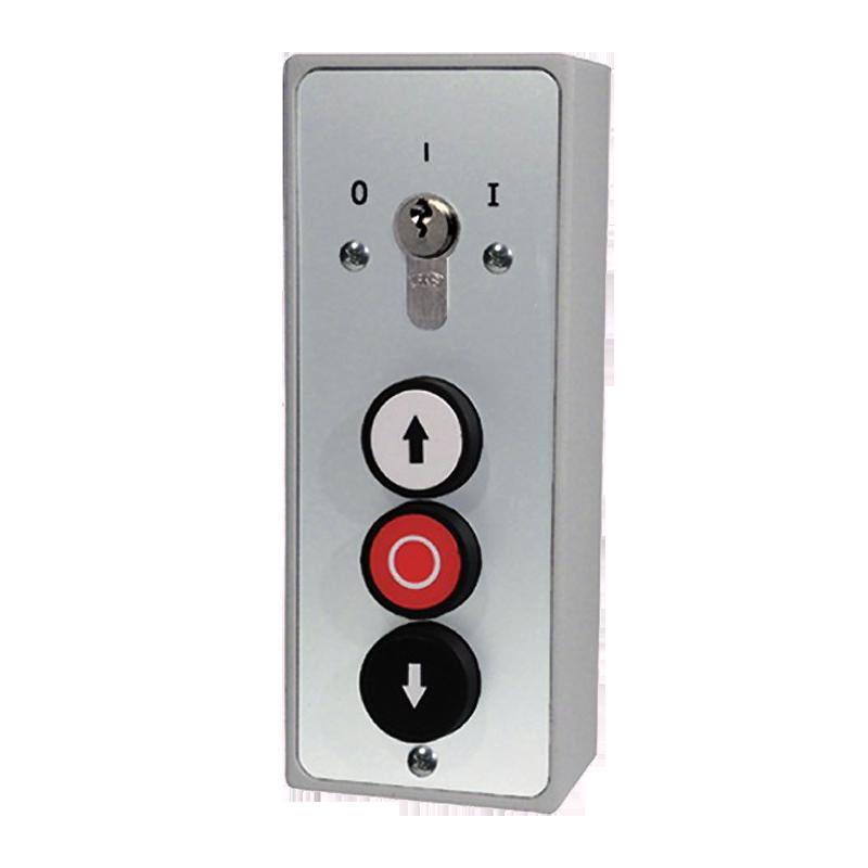 Schlüssel-Schalter 1 Rast-Kontakt AUS/EIN AUF-STOP-AB Aufputz ...