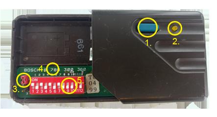 Bosch-Handsender-Detail